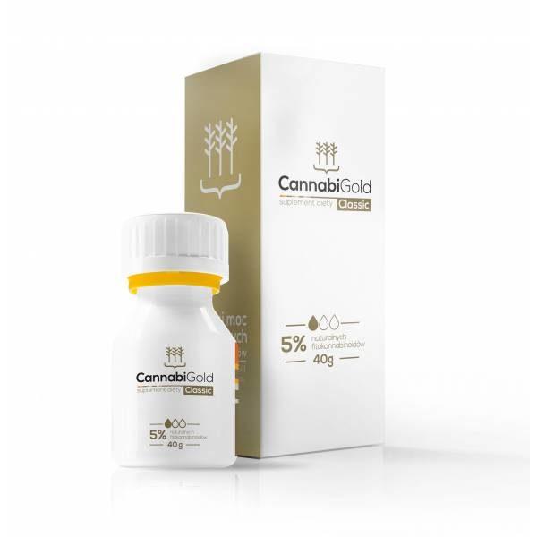 CannabiGold Classic - 5% CBD- Opakowanie Rodzinne-40g