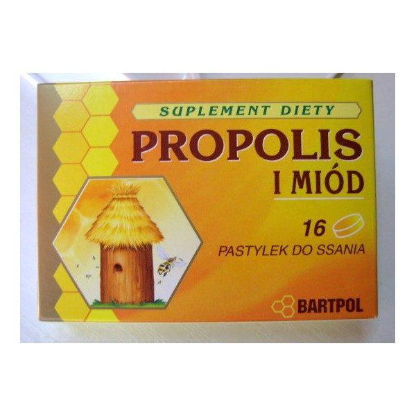 PASTYLKI PROPOLIS I MIÓD