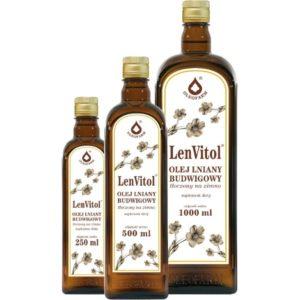 LENVITOL Olej lniany budwigowy nieoczyszczony 0,5l