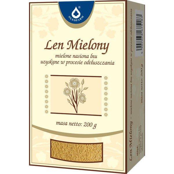 Mielone nasiona lnu uzyskane w procesie odtłuszczania 2 paczki po 200g w cenie 1