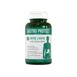 Gastro Protect siemię lniane + aloes i zielona herbata. 80 kapsułek