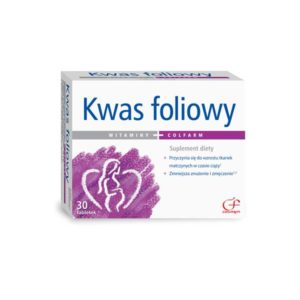 Kwas foliowy suplement diety 30 tabletek