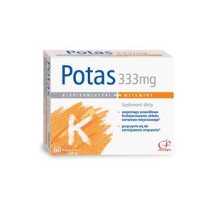 Potas 333mg suplement diety 60 tabletek